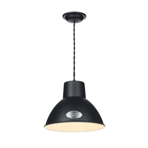 Utility 1 Light Pendant Small Black UTI8622 (Hand made, 7-10 day Delivery)